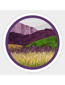 Purple Hills Sticker by Katherine Blower Designs
