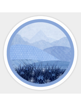 Blue Landscape Sticker by Katherine Blower Designs