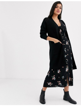 New Look Oversized Knit Cardigan In Black by New Look
