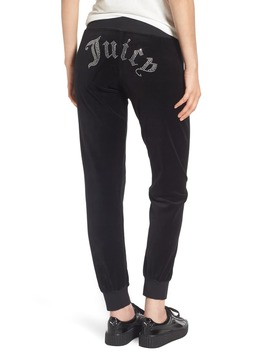 Gothic Crystals Embellished Velour Pants by Juicy Couture