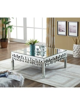 Luong Mirrored Coffee Table by Everly Quinn