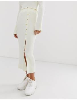 Asos Design Two Piece Rib Knit Midi Skirt by Asos Design