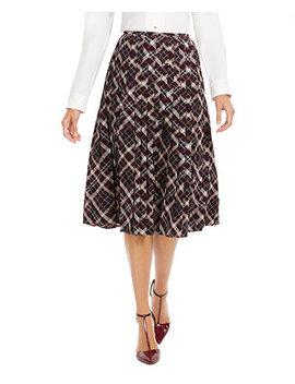 Plaid Pleated Midi Skirt by General