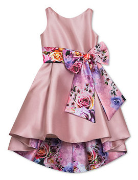 Big Girls Floral Bow High Low Dress by General