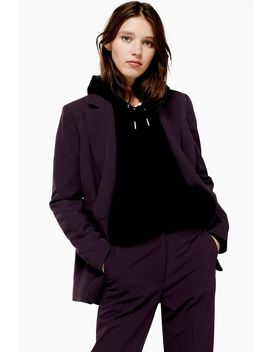 Aubergine Suit by Topshop