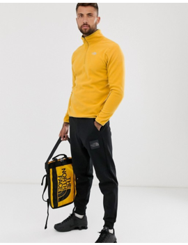 The North Face 100 Glacier 1/4 Zip Fleece In Yellow by The North Face