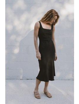 Selma Silk Slip Dress   Black by St Agni