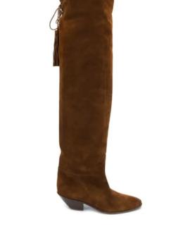 Knee Length Tassel Boots by Saint Laurent