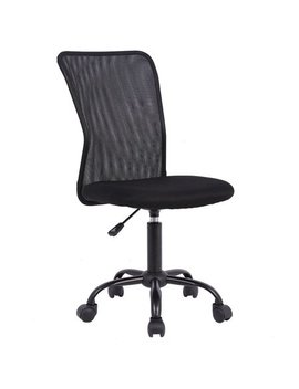 Ergonomic Office Chair Mesh Desk Chair Task Computer Chair Adjustable Stool Back Support Modern Executive Rolling Swivel Chair For Women&Men, Black by Best Office