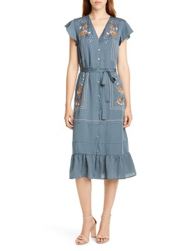Cole Embroidered Button Front Dress by Dolan