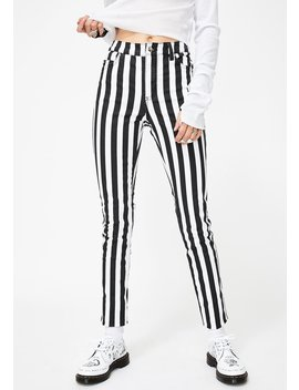Wide Stripe T Back Skinny Jeans by Tripp Nyc