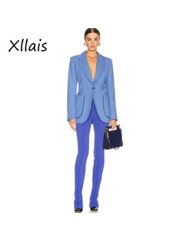 Xllais 2019 Summer New Solid Blue Sexy Pants Women High Waist Slim Streetwear Trousers Casual Pants Fashion by Ali Express.Com