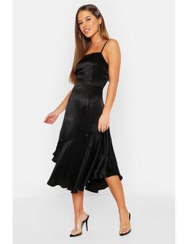 Petite Asymmetric Hem Cami Slip Dress by Boohoo