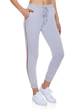 Striped Tape French Terry Joggers by Rainbow