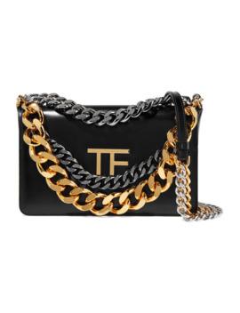 Palmellato Chain Embellished Leather Shoulder Bag by Tom Ford