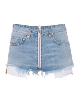 Distressed Denim Shorts by Unravel Project