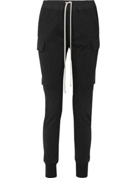 Poplin Trimmed Cotton Jersey Track Pants by Rick Owens