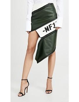 Asymmetrical Leather Zip Miniskirt by Monse