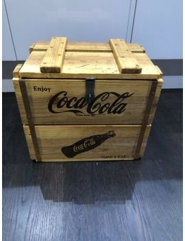 32cm Coca Cola Rustic Vintage Style Wood Storage Crates With Lid Storage Boxes by Ebay Seller