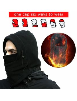 Men Women Winter Fleece Balaclava Hat Trooper Snow Ski Neck Face Mask Hood Cap by Unbranded