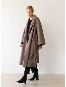 (Priority Shipping)Handmade Herringbone Coat Brown by Kindersalmon