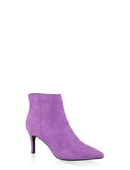 Pointed Toe Mid Heel Booties | 3113014065664 by Rainbow