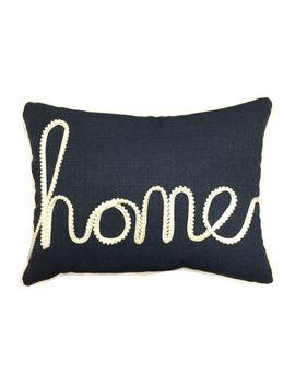 Home Fashions International Home Applique Rectangular Throw Pillow by Home Fashions International