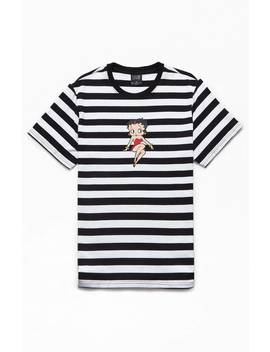 Huf X Betty Boop Striped T Shirt by Pacsun