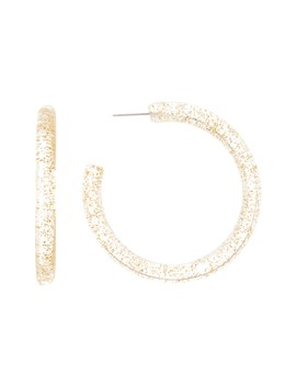 Jasmine 56mm Glitter Hoop Earrings by Loren Olivia
