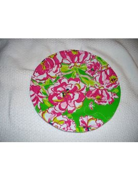 "Lilly Pulitzer Melamine Plate Green Pink Floral 9"" by Lilly Pulitzer"