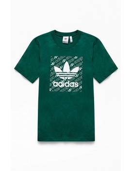Adidas Green Mono Square T Shirt by Pacsun