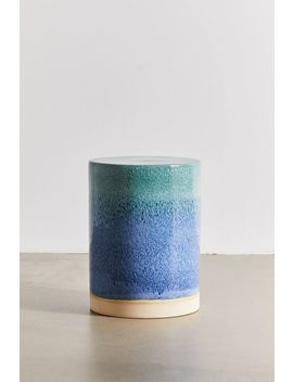 Ceramic Drum Side Table by Urban Outfitters