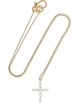 Petite Fellini 14 Karat Gold Pearl Necklace by Sophie Bille Brahe