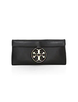 Miller Metal Leather Clutch by Tory Burch