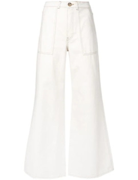 Wide Leg Trousers by Ganni