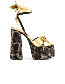 Leopard Platform Sandal by Saint Laurent