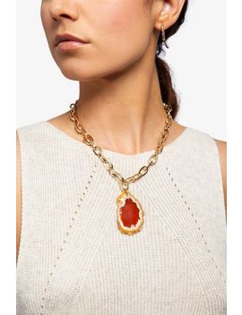 **Agate Slice Necklace by Topshop