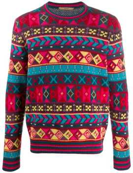 Abstract Pattern Knit Sweater by Roberto Collina