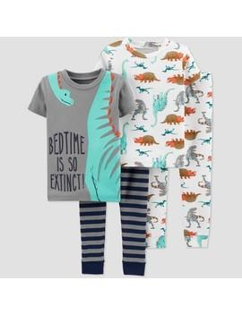Toddler Boys' 4pc Dino Pajama Set   Just One You® Made By Carter's Gray by Just One You® Made By Carter's Gray