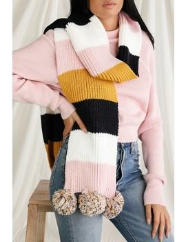 Jolinda Pink Multi Colorblock Scarf by Lulus