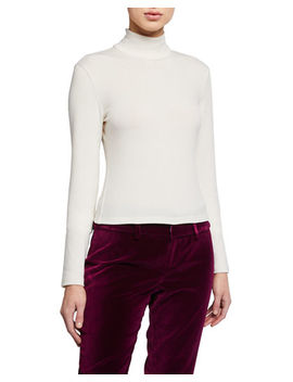 Garrison Slim Mock Neck Top by Alice + Olivia