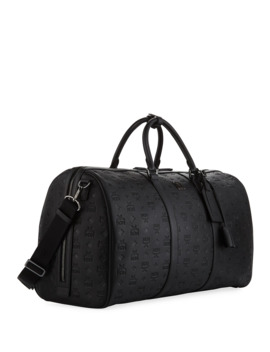 Ottomar Men's Embossed Weekender Bag by Mcm