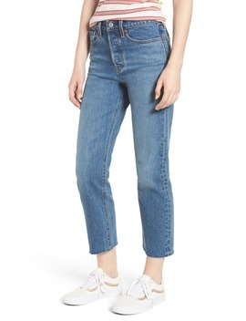 Wedgie Raw Hem High Waist Straight Leg Jeans by Levi's®