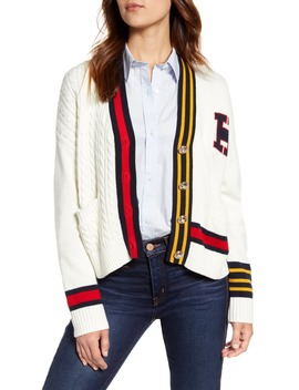 Cable Varsity Cardigan by Tommy Hilfiger
