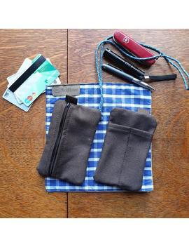 Edc Canvas Pouch Card Pen & Knife Pocket Slip by Etsy