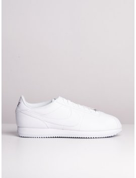 Mens Cortez Basic Leather   White by Nikenike