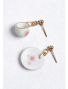 Tea Time Dangle Earrings by Modcloth