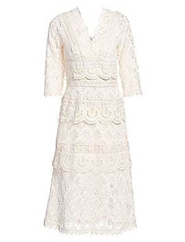Laurel Lace Tiered Midi Dress by Sea