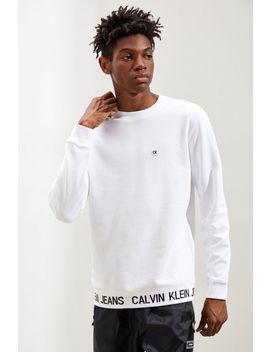 Calvin Klein Logo Waistband Crew Neck Sweatshirt by Calvin Klein