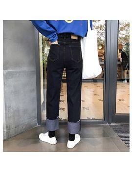 Demain   High Waist Straight Cut Jeans by Demain